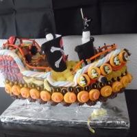 """Le gâteau de Bonbons """" pirate """" par Créations gourmandes ou CL Traiteur Sucré"""