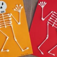 DIY Squelettes en cotons tige